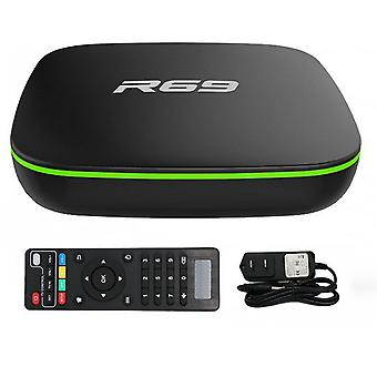 R69 smart set top tv box 4k high definition quad-core 2.4g wifi 1080p 2gb16gb support 3d movie android media player
