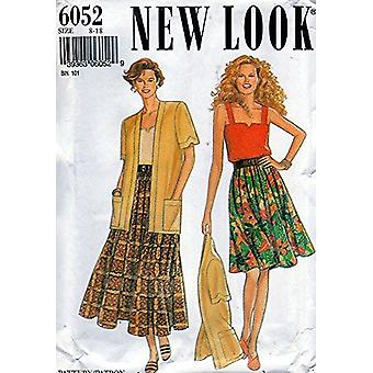 New Look Sewing Pattern 6052 Misses Jacket Skirt Camisole Sizes 8-18