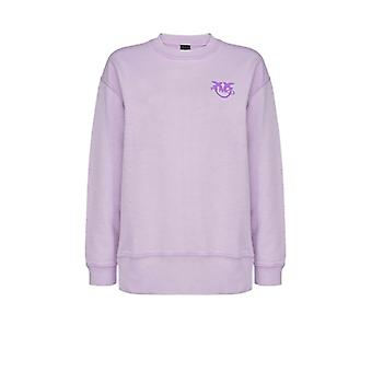 Pinko Sano Lilac Cotton Sweatshirt