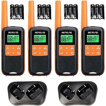 HanFei RT649 Walkie Talkie Lizenzfrei PMR446 Funkgert Set 16 Kanle VOX LED Taschenlampe Scan Zwei