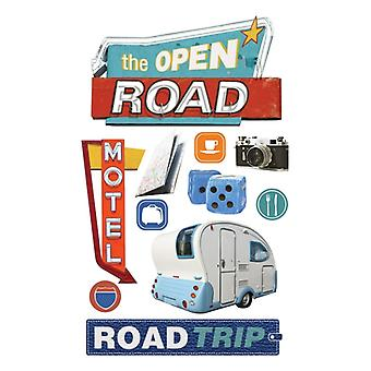 Paper House Productions - 3D Stickers - Road Trip