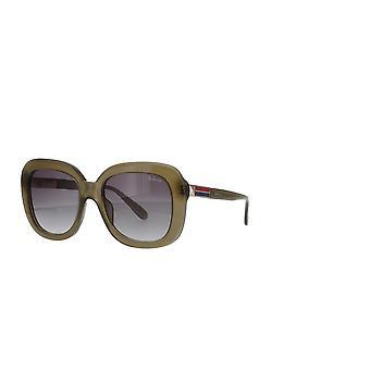 Mulberry SML089 06S9 Shiny Kkaki Green/Smoke Gradient Sunglasses