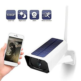 DC08 WIFI Solar Camera 1080P Wireless Minitor Plug-in Free IP67 Night Vision Real Time Voice Intercom Motion Detection Alarm