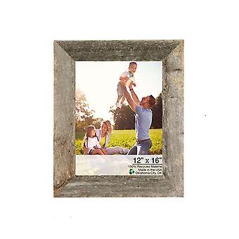 """12"""" x 16"""" rustieke boerderij grijs houten frame"""