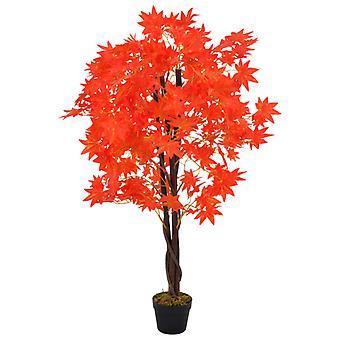 vidaXL Keinotekoinen kasvivaahtera puu ruukku punainen 120 cm