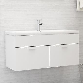 vidaXL Waschbeckenunterschrank Weiß 100x38,5x46 cm Spanplatte