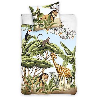 Jungle Single Cotton Duvet Cover Set - European Size