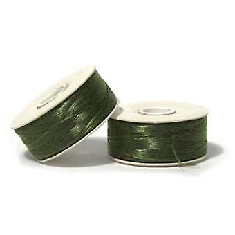 NYMO Nylon Beading Thread Size D for Delica Beads Olive Green 64YD (58 Meters)