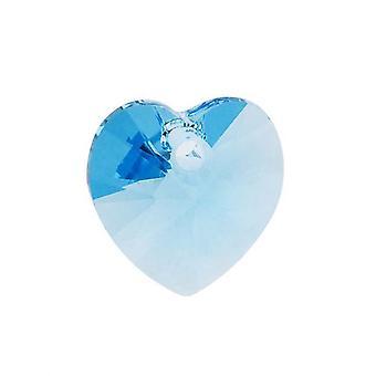Swarovski Kristall, #6228 Herz Anhänger 10mm, 6 Stück, Aquamarin