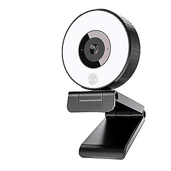 Live Streaming Webcam 1080P, FHD 1080P 30FPS USB Web Camera with Ring light