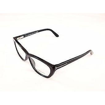 Tom Ford Okulary Rama TF5227 001 Czarny plastik Włochy Wykonane 54-10-130