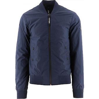 Replay Navy Recycled Nylon Jacket Jacket