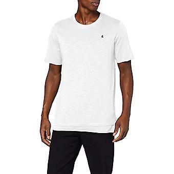 JACK & JONES JORASTON SS Tee Crew Neck KA T-Shirt, White (White Fit: Reg), XL Men's