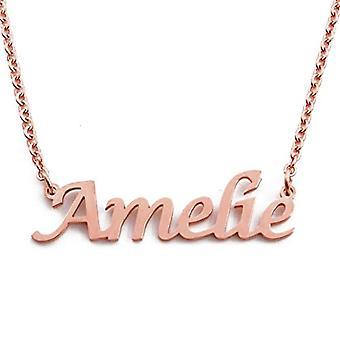 KL Kigu Amelie - Naisten kaulakoru muokattavissa nimi, trendikäs korut, lahja tyttöystävälle, äiti, sisko