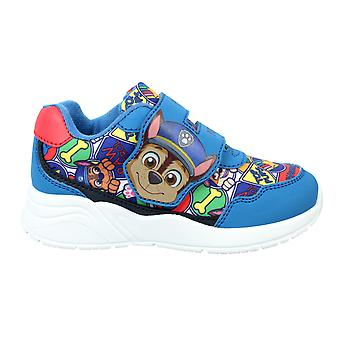 Boys Blue Paw Patrol Chase Twin Bar Low-Top Sports Trainer