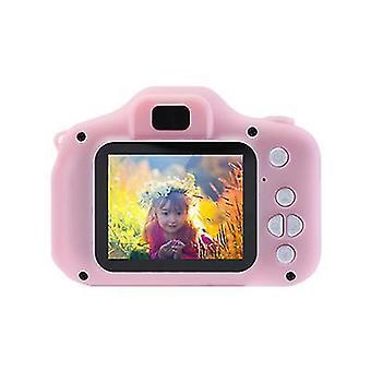 32G tf card pink portable kid video camera x2 mini 2.0 inch hd 1080p ips color screen children's digital camera az20925