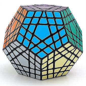 Brinquedo de cubo mágico dodeahedron profissional negro, cubo de rubik, quebra-cabeça aprendendo az3640