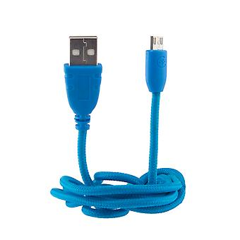 Urbanz INC-MU/U-1-BL Braided Cord Micro USB to USB Cable 1M - Blue