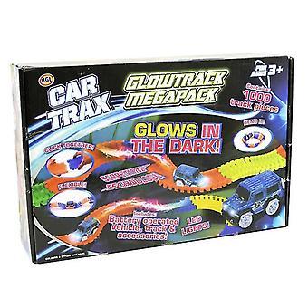 Car Trax Glowtrack Megapack - 1000 Piece Set