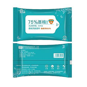 2 Pack/20 Pcs Alcohol Wet Wipes Alcoholic Cotton Wash-free Sterilizing Wet Wipes For Daily Use Travel (blue-green)