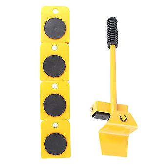 Heavy Power Furniture Slider Movers Wheel Tool Home Appliances Casters Set (yellow)