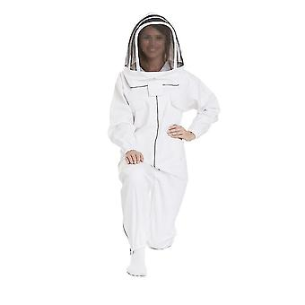 Bijenpak voor vrouwen en mannen full body keeper outfit bijenteelt kleding beschermend met sluier hoed xxxl