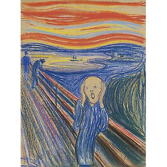 The Scream, Edvard Munch Art Reproduction.expressionism Style Modern Hd Art Print Poster,canvas Prints Wall Art For Home Decor Pictures (unframed)