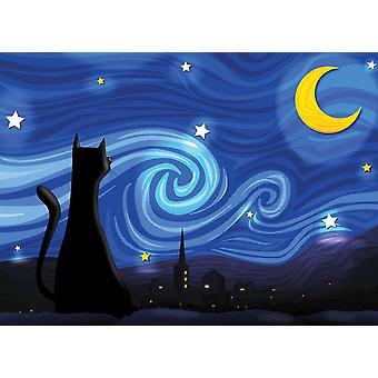 Cobble Hill Mrowwy Night Jigsaw Puzzle (500 Pieces)