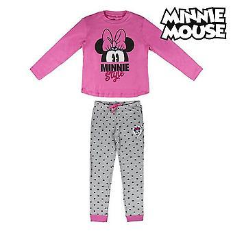 Children's Pyjama Minnie Mouse 74811 Pink Grey