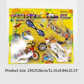 מיני אצבע אופנוע אופניים להגדיר אופניים אצבע לוח DIY יצירתי משחק סקייטבורד