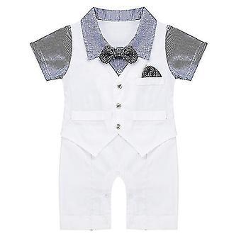 Baby Baby Boys Gentleman Einteiler Horizontal Streifen Kurzarm 18-24 Monate