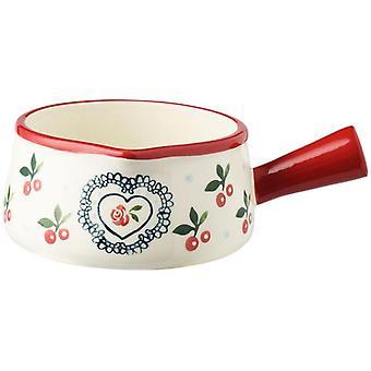 Baking Dishes & Pans Ceramic Bake Pan Au Gratin Dishes Bread Pan Baking Pan Fruit Salad Bowl(red)