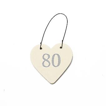 80 Mini tre hengende hjerte for 80-årsdagen - Cracker Filler Gift