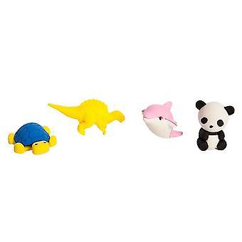 Nectar Animal Kingdom 3D Eraser Set,  Toy, For Children, Child Development, Stationery Supplies, 4 Pieces, 2-3 cm