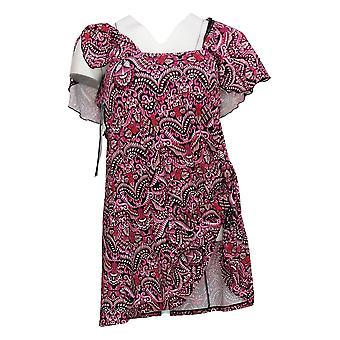 Fit 4 U Badeanzug Surplice Flounce Badekleid rosa A376259