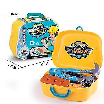 14kpl / aseta Diy Pretend Play Simulaatio Korjaus työkalu laatikko matkalaukku ruuvimeisseli