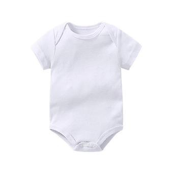 Baby Creeper Baby Strampler Kurzarm Kleidung reine Baumwolle weich weiß