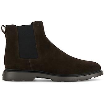 Chelsea Boot Hogan Hombre en ante marrón oscuro