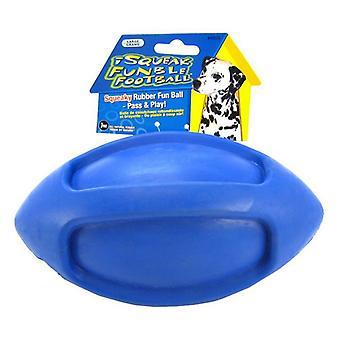 JW Pet iSqueak Funble Football Rubber Dog Toy - Large