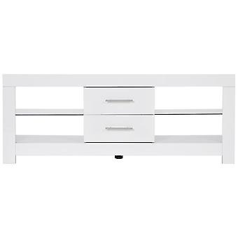 Modern High Gloss Tv Stand Cabinet Unit With 2 Drawers