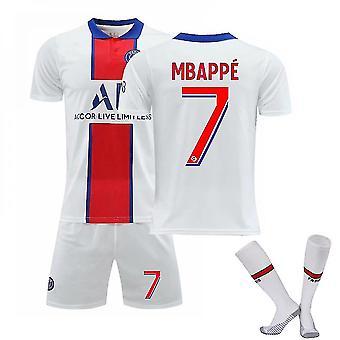 Mbappé #7 Jersey Home 2021-2022 Nová sezóna Pánske Parížske futbalové tričká Jersey Set Dospelé deti