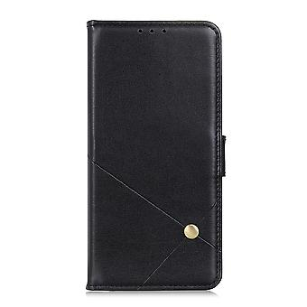 Case For Samsung Galaxy A22 5g Cover Leather Wallet Book Flip Folio Stand View - Black