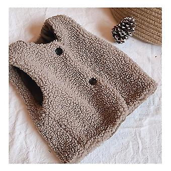 Children's Double Vest  Baby Vest Girl And Boy Plush Vest In Autumn And Winter Baby Girl Winter Clothes Toddler Girl Vest