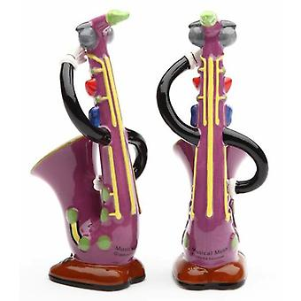 Saxophone Sax Musical Instrument Salt and Pepper Shakers