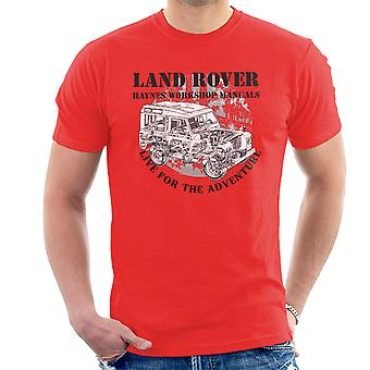 Haynes Owners Workshop Manual Land Rover Adventure Black Men's T-Shirt
