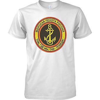 Venäjän merivoimien jalkaväki - Grunge arvomerkit - Miesten T-paita
