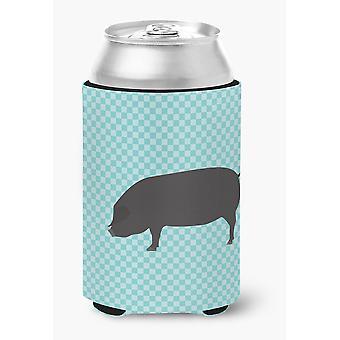 Devon Large Black Pig Blue Check Can or Bottle Hugger