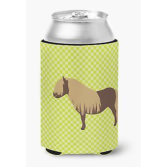 Carolines Treasures  BB7740CC Shetland Pony Horse Green Can or Bottle Hugger