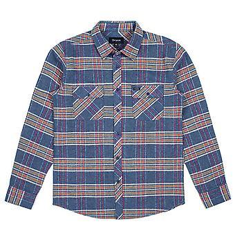أزرق أردوازي قميص الفانيلا الأكمام الطويلة معرش بريكستون