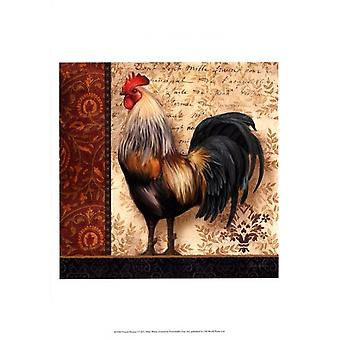 French Rooster I Poster Print by Abby White (13 x 19)